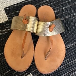 Joie Leather Thong Flip Flop Sandal 35